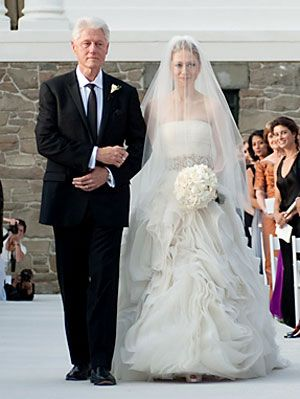 Extravagant Celebrity Weddings Chelsea Clinton Wedding At Joan Rivers Dress